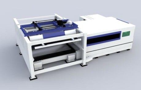 آلة قطع الألياف بالليزر مع وظيفة تحميل وتفريغ الألواح التلقائية